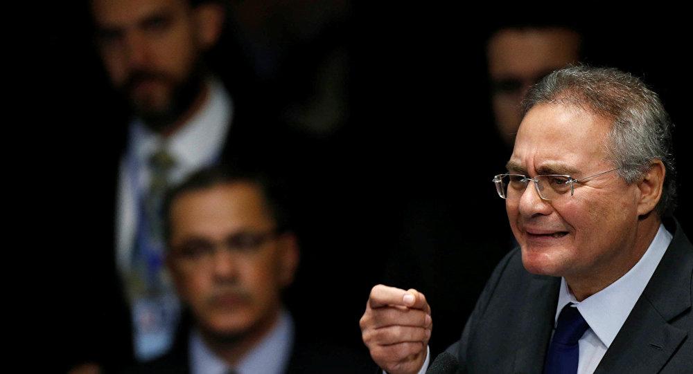 Renan Calheiros. el presidente del Senado de Brasil