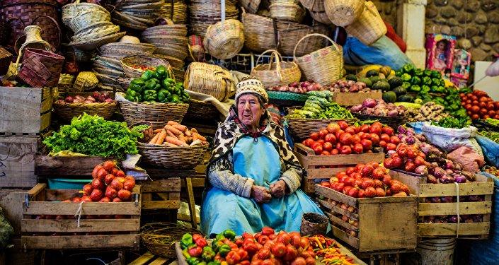 Un mercado en Bolivia (archivo)