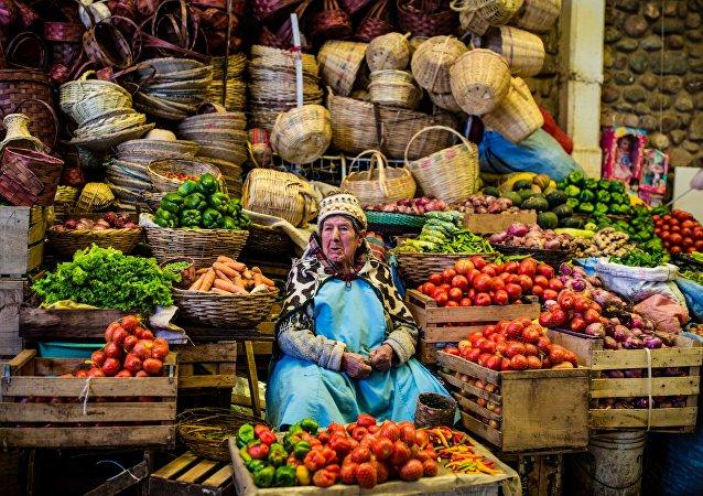Un mercado en Bolivia