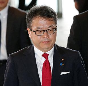 Hiroshige Seko, ministro de Comercio y Industria de Japón
