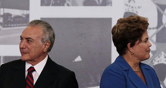 El presidente de Brasil, Michel Temer, y la expresidenta, Dilma Rousseff (archivo)
