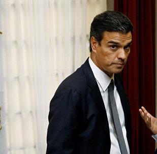 Pedro Sánchez, secretario general del Partido Socialista Obrero Español (PSOE)