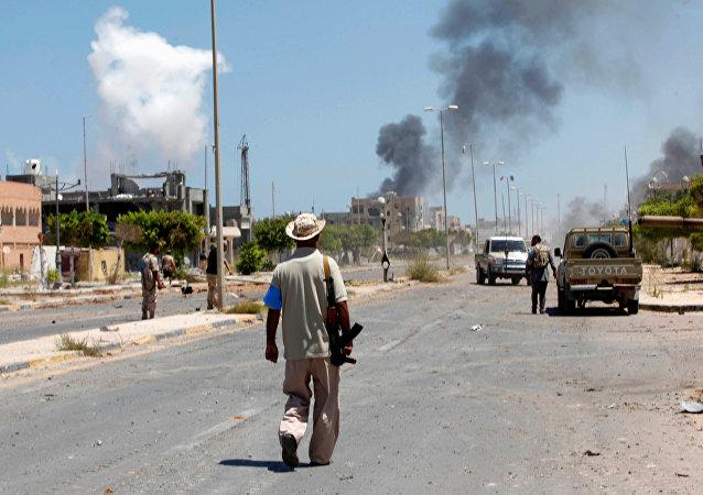 Combates en la ciudad libia de Sirte