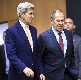 John Kerry y Serguéi Lavrov (archivo)