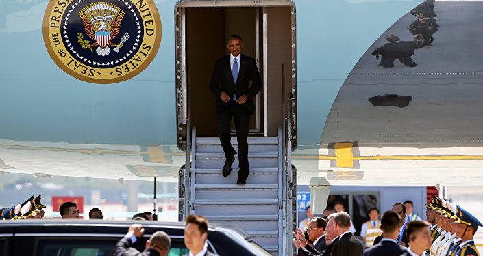 Presidente Obama arriba a Hangzhou, China para asistir a la cumbre de G20