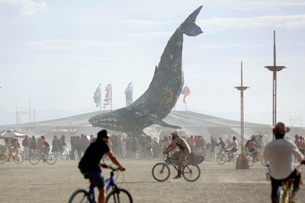 El festival de arte 'Burning Man', celebrado en el desierto de Black Rock, en Nevada, EEUU.