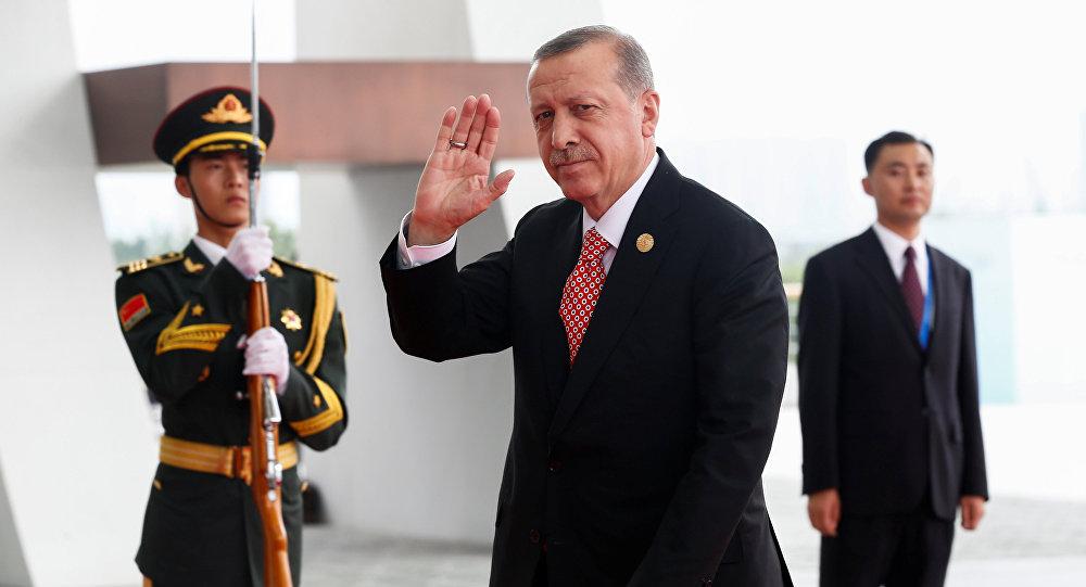 El presidente de Turquía, Recep Tayyip Erdogan en China