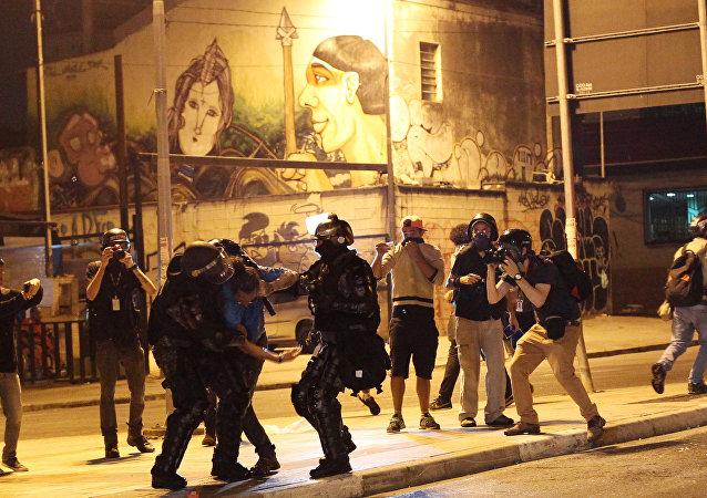 Una detención en Sao Paulo (archivo)