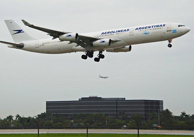 Avión de Aerolíneas Argentinas
