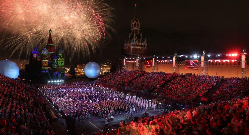 Ceremonia de la clausura del festival Spasskaya Bashnia 2016