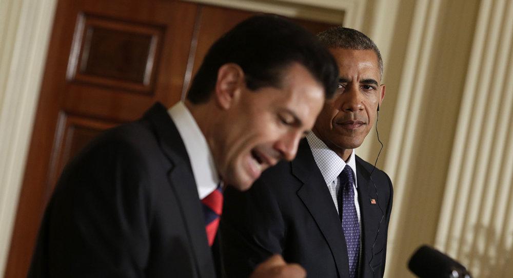 Presidente de México, Enrique Peña, y presidente de EEUU, Barack Obama (archivo)