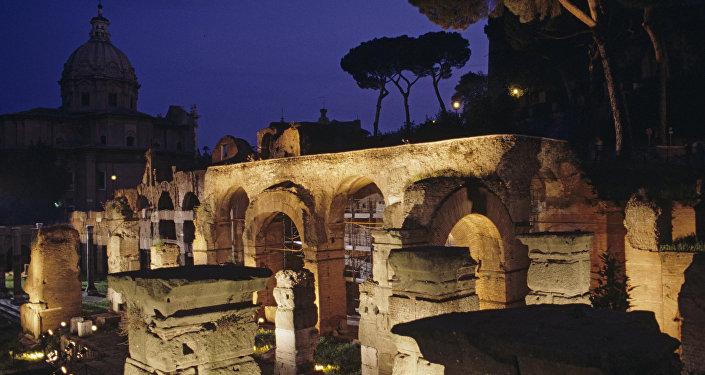 Ruinas antiguas en Roma