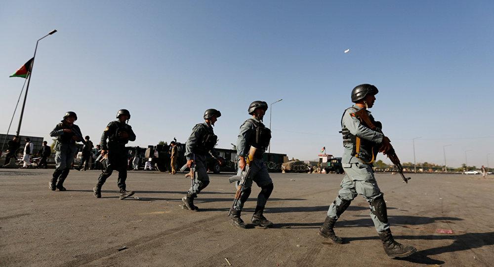 Policías de Afganistán (archivo)