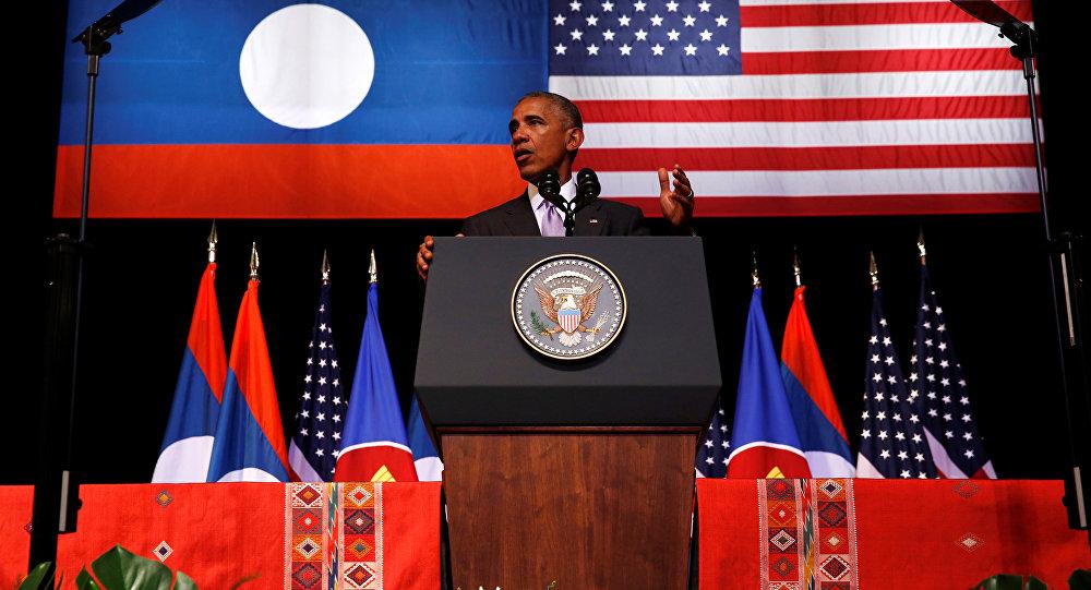 El presidente de EEUU, Barack Obama, en Laos
