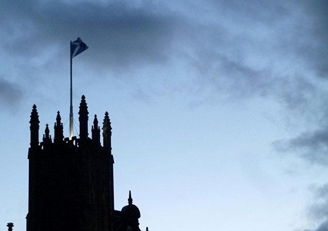 La bandera de Escocia