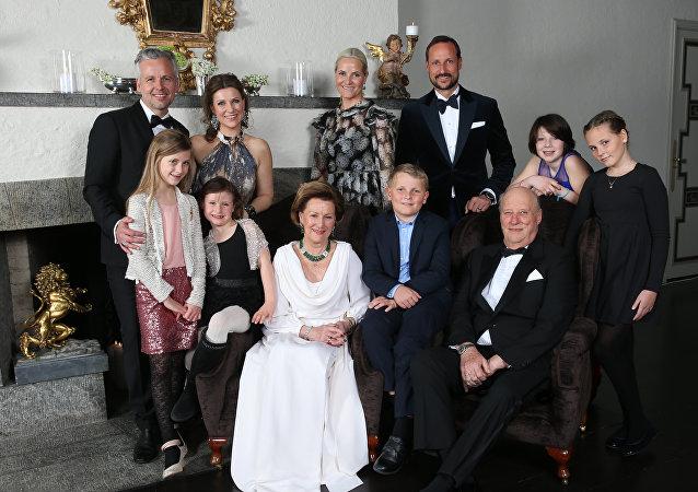 La foto de la familia real de Noruega (archivo)