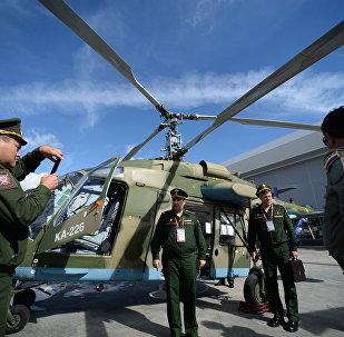 El helicóptero Ka-226T en foro Army-2016