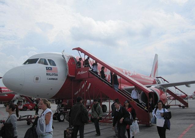 El avion de la aerolínea malasia AirAsia