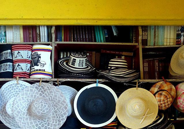 Pequeña libreria en Cartagena, Colombia