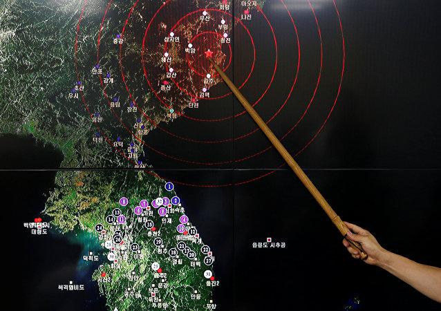 El lugar de la prueba nuclear en el mapa