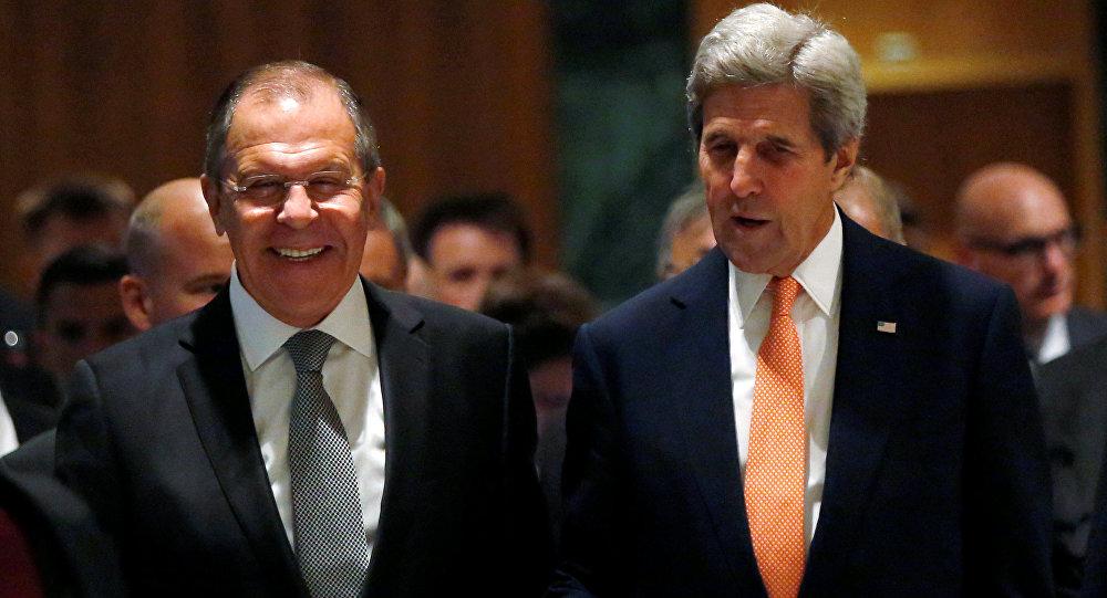 Secretario de Estado de EEUU, John Kerry, y ministro de Exteriores de Rusia, Serguéi Lavrov