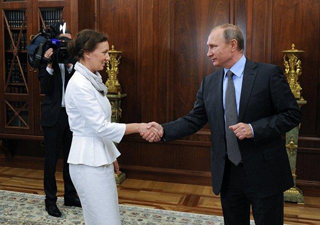 Ana Kuznetsova, nueva Defensora del Menor de Rusia