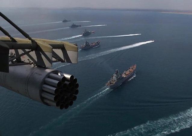 Las maniobras de la flota rusa en el Mar Negro