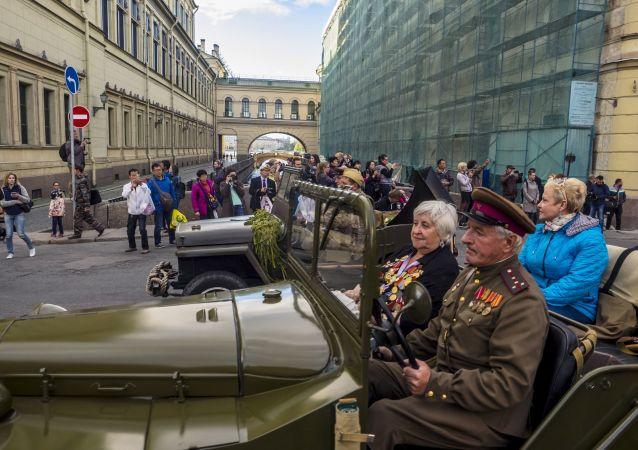 Acción patriótica Leningrado Inmortal en San Petersburgo