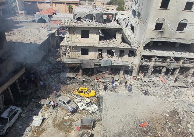 Las consecuencias del ataque aéreo en Idlib