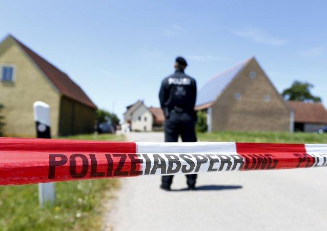 Operativo policial tras los ataques de Ansbach, Alemania, 10 de julio de 2015