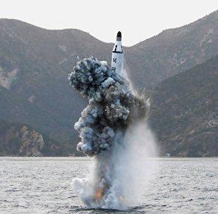 Una prueba nuclear de Corea del Norte (archivo)