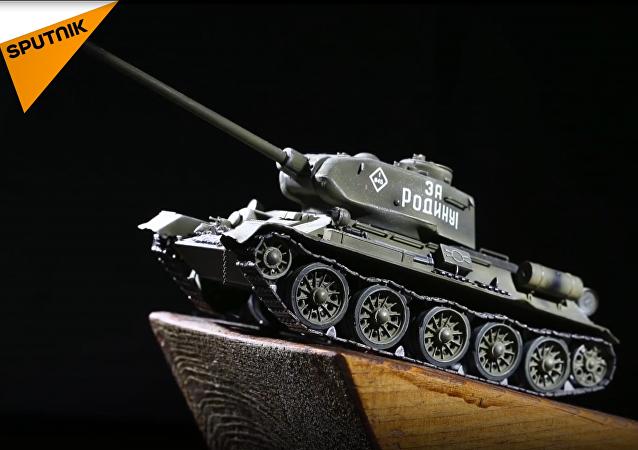 El tanque T-34 protagonizado en el dibujo animado de la Defensa rusa