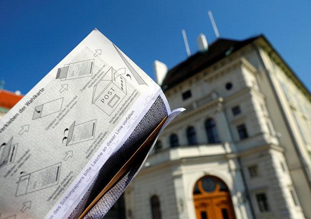 Una papeleta para las elecciones en Austria (archivo)
