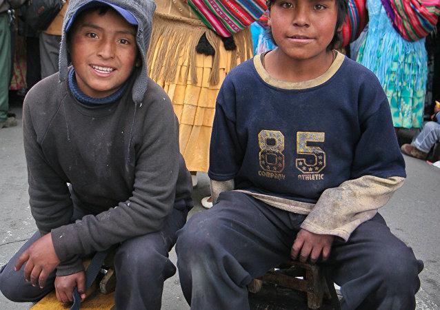 Niños en Bolivia