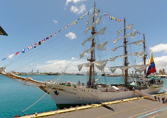 El buque escuela Gloria