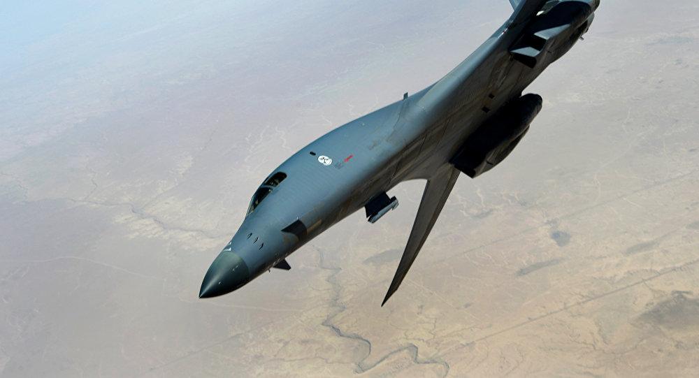 Caza B-1B Lancer durante la operación Inherent Resolve