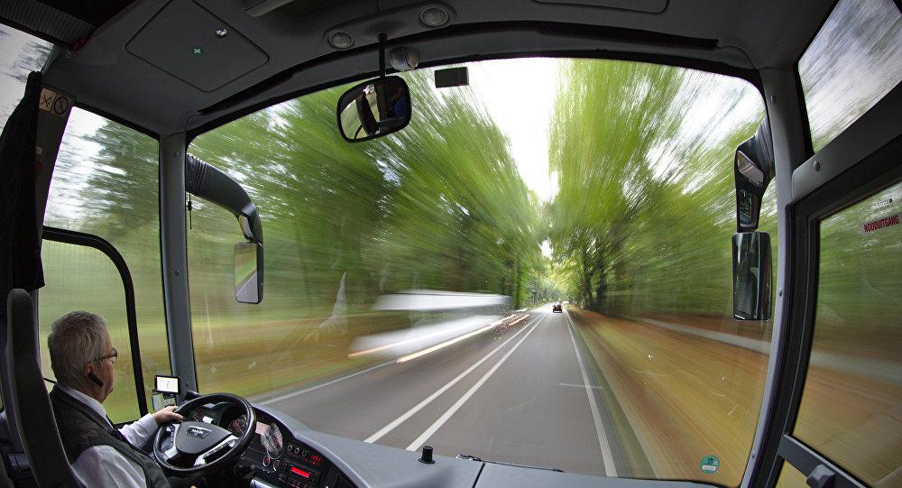 Ventana de un autobús (imagen referencial)