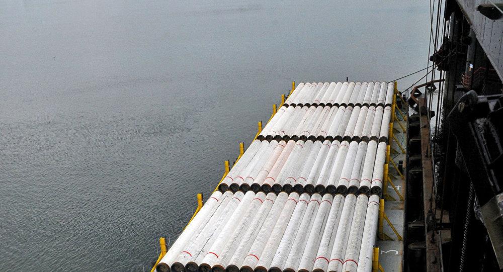 Tuberías para el gasoducto Turk Stream (archivo)