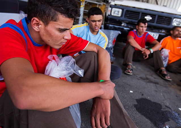 Migrantes en España (archivo)