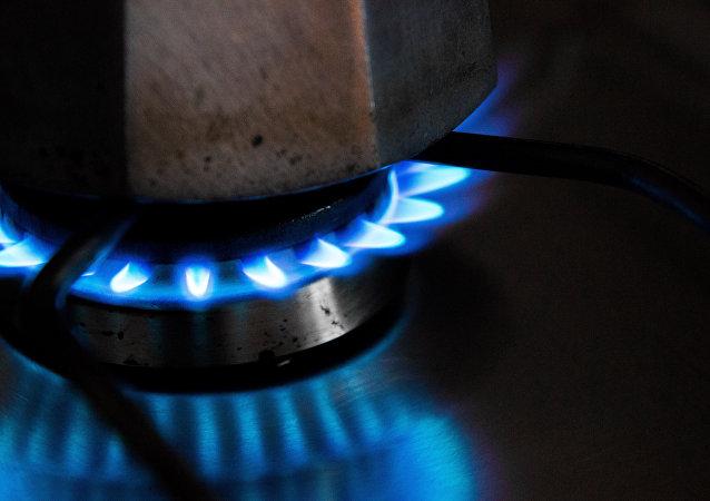 Una estufa de gas