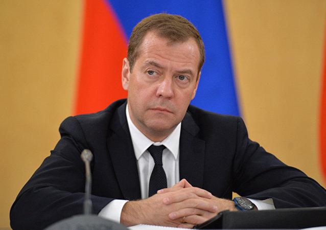 Dmitri Medvédev, primer ministro de Rusia (archivo)