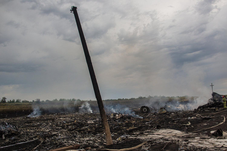 Lugar de caída del avión del vuelo MH17 de Malaysia Airlines