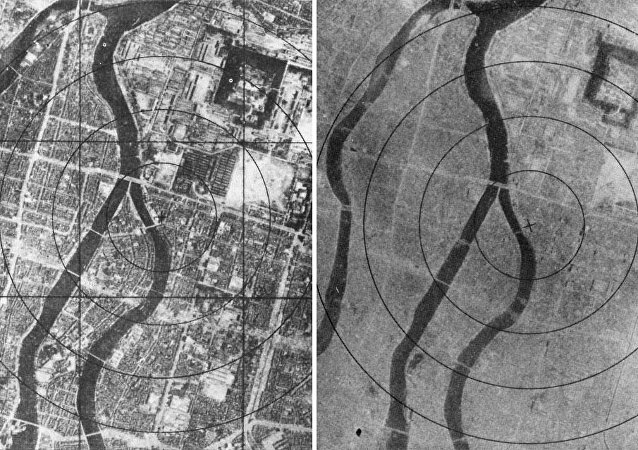 La ciudad de Hiroshima antes y después del bombardeo, 6 de agosto de 1945