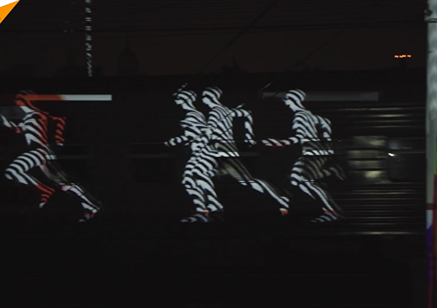 Trainmapping: espectáculo ruso de luz con trenes en marcha como telón de fondo