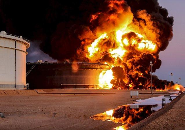 El puerto de Es Sider, in Ras Lanuf, Libya, el 4 de enero de 2016.