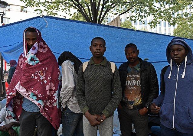 Los refugiados en París