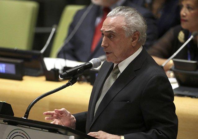 Michel Temer, presidente brasileño
