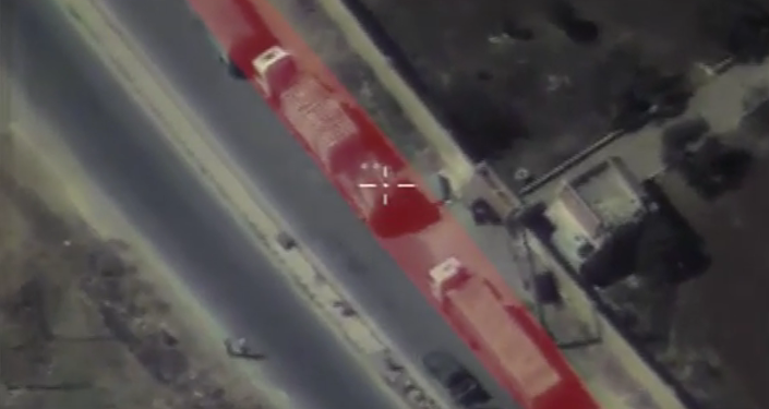 El convoy humanitario de la ONU en Alepo