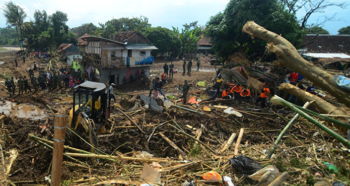 Las consecuencias de las inundaciones en Indonesia