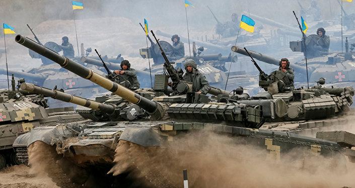 Tanques del Ejército ucraniano